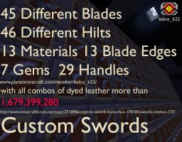 Custom Sword (Forge) (1.7.10) Minecraft Mod