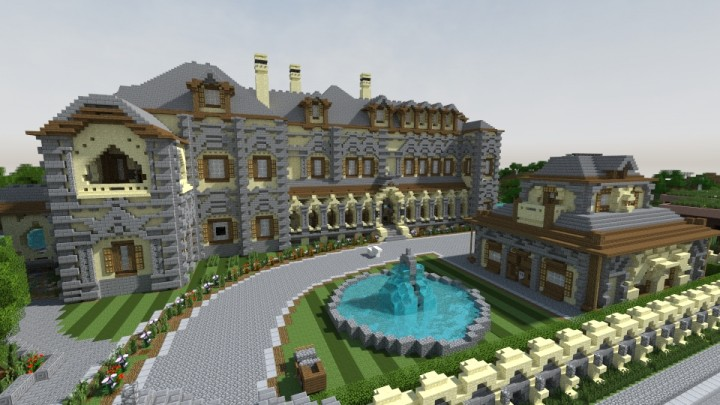 Minecraft World Map - Tagged mansion