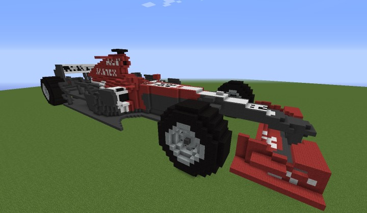 how to build a f1 car in minecraft