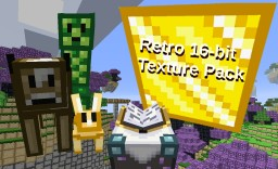 Retro 16-bit Texture Pack (also works for 1.6 to 1.7.10) Minecraft