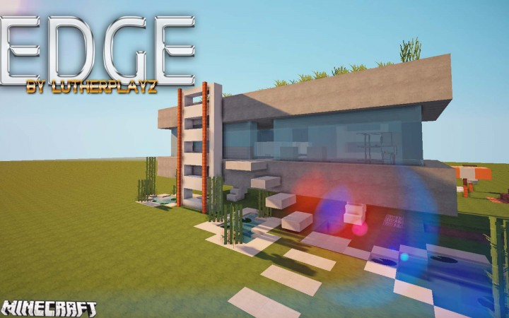 Mansion edge para minecraft for Casas minecraft planos