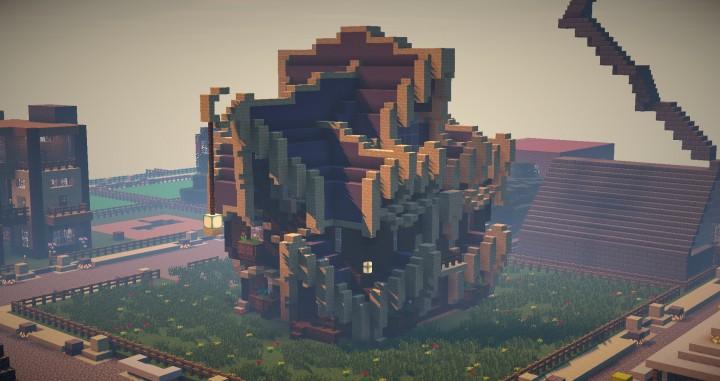 Design Minecraft Terracotta House Rumah Joglo Limasan Work