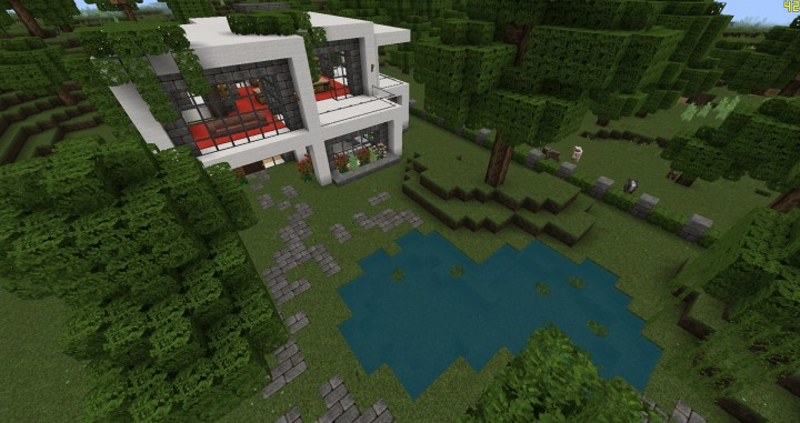 Another modern house schematic minecraft project for Modern house schematic