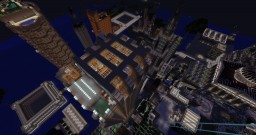 Saulaustad, a large city with movecraft (version 1.1.8) Minecraft