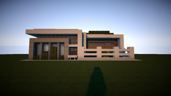 Maison moderne moderne house minecraft project - Maison modern minecraft ...