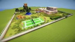 **Modern mansion.** Minecraft