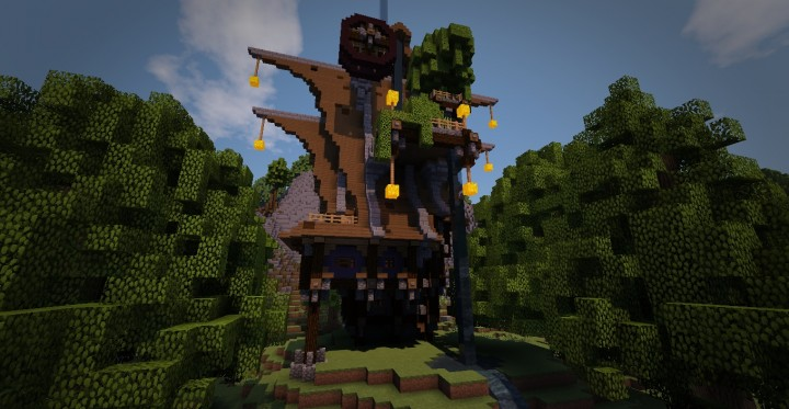 Steampunk House N2 Maison Steampunk N2 Minecraft Project