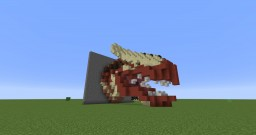 Red Dragon Head Minecraft Project