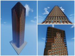 Modern Office Building Skyscraper (32 Floors w/ Stairwells and Elevator Shafts) Minecraft
