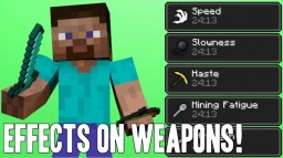 Adding effects onto weapons in VANILLA Minecraft! Minecraft Blog Post