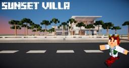 Sunset Villa - Modern House Minecraft Map & Project