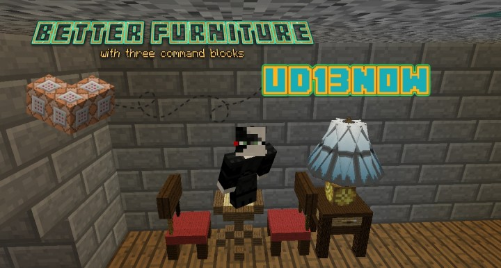 How to get furniture in minecraft using command blocks