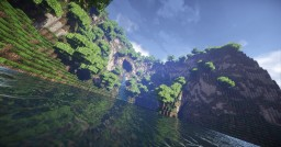 Tropical Forest With Long River. Minecraft Project