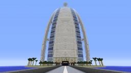 Burj Al Arab (1:1 scale) Minecraft Map & Project