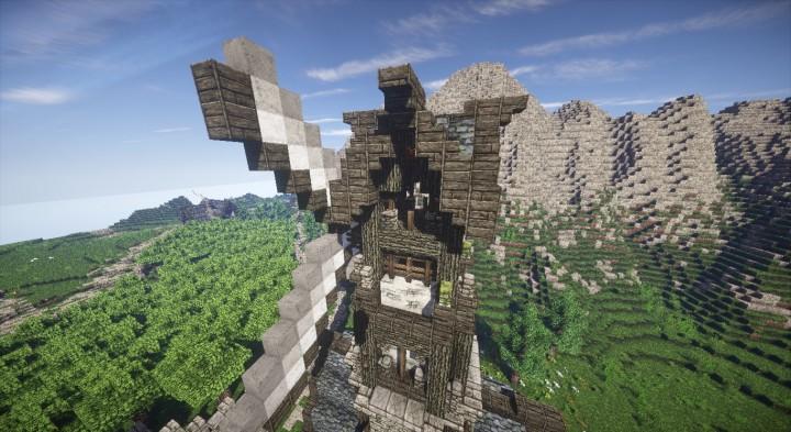 Hlafton- Windmill [SCHEMATIC] Minecraft Project