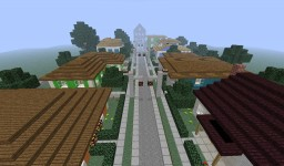 The fifties style neighborhood. Minecraft Project