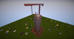 Building site skyscraper only one command - Vanilla mod - spaw egg 1.8+ Minecraft