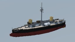 Italian Ironclad Caio Duilio (1876) 1:1 Minecraft Map & Project