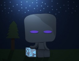 Enderman Simplistic Illustration Minecraft Blog