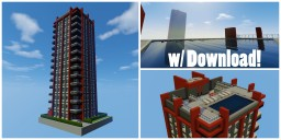 Modern Apartment Building with Penthouse (DOWNLOAD) Minecraft