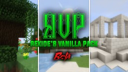 (w/ MODELS) Rexide's Vanilla Pack [BETA V20] (1.11.2) [MUSIC] Minecraft Texture Pack