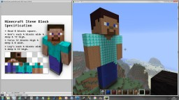 How to make a Minecraft player statue and statue dimensions! Nice and simple! Minecraft Blog Post