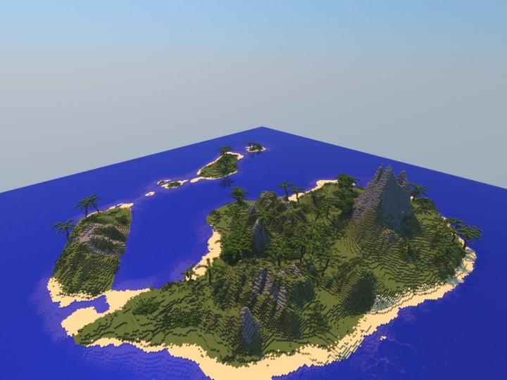 Mincreaft Tropical Island Map Creative