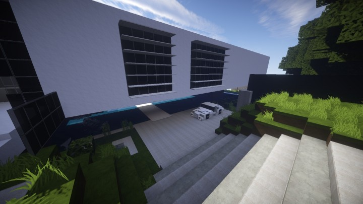 Flow modern mountain house minecraft project for Show pool post expert ng best forum