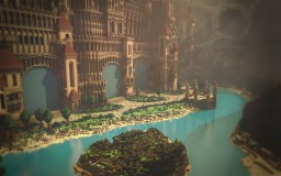 The City of Rock | 5 Portal Hub Minecraft Map & Project