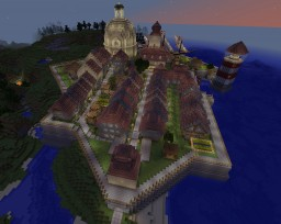 Medieval/Baroque Town Minecraft Map & Project