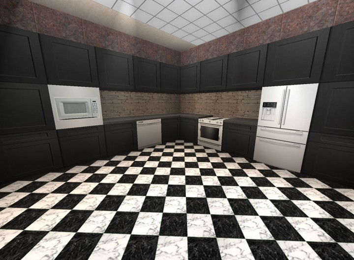 White Appliances with Black Cabinets