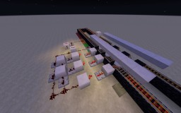 Fully Automatic and Modular Train Station Minecraft Map & Project