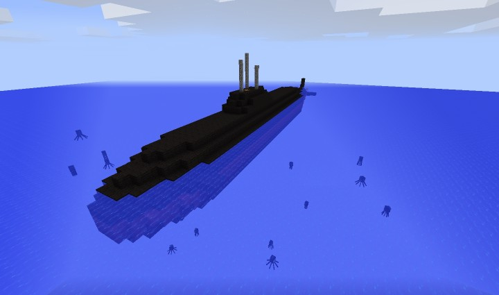 карта майнкрафт виживание на подводной лодке #3