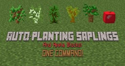 [1.8] One Command - Auto-Placing Saplings and Apples Minecraft Map & Project