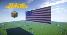 USA flag only one command (90x64)  - Minecraft  Vanilla 1.8.x