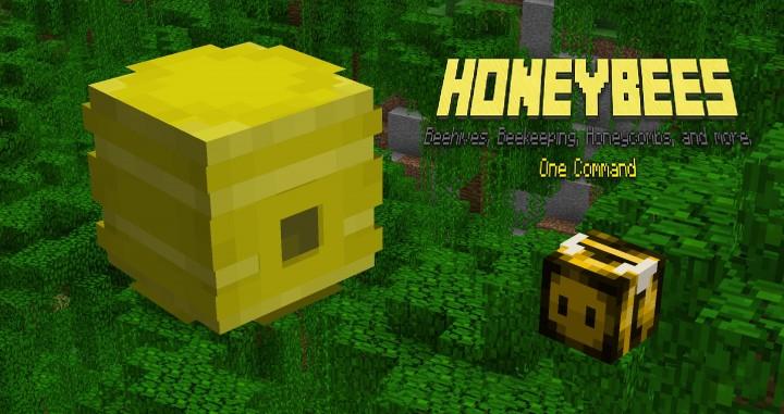 1 8] Honeybees! V5 - One Comand - Beehives, Honeycombs, Beekeeper
