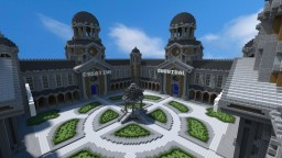 Courtyard Hub / 4 Portals   [ Free Download ] Minecraft