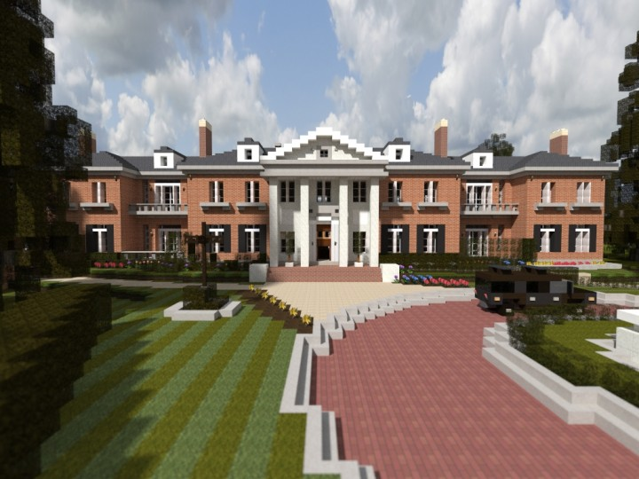 Georgian mansion ecs minecraft project for American classic realty