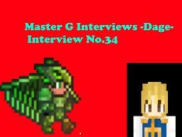 Master G Interviews -Dage- Minecraft Blog Post