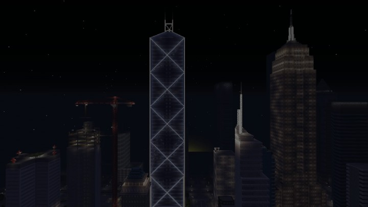 Bank Of China Tower Capital City Ps4 Minecraft Project