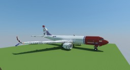 Boeing 737 MAX 8 Norwegian Air Shuttle [+Download] Minecraft