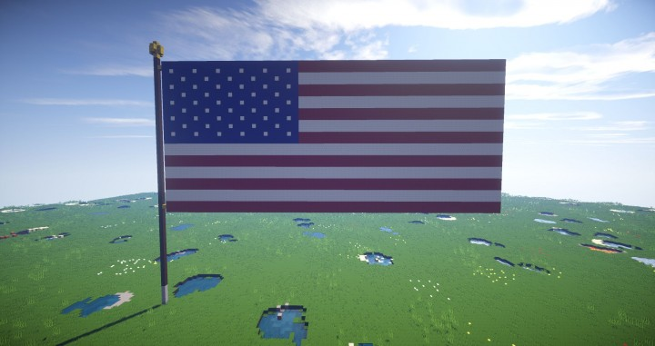 usa flag front