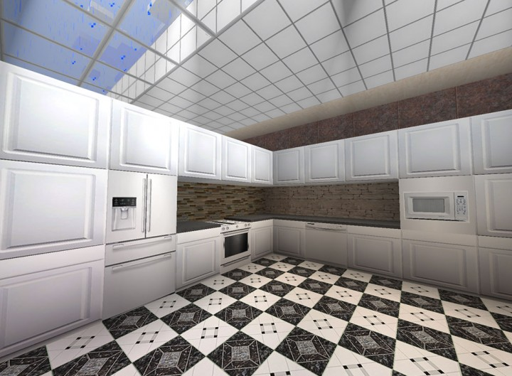 White Appliances with White Cabinets
