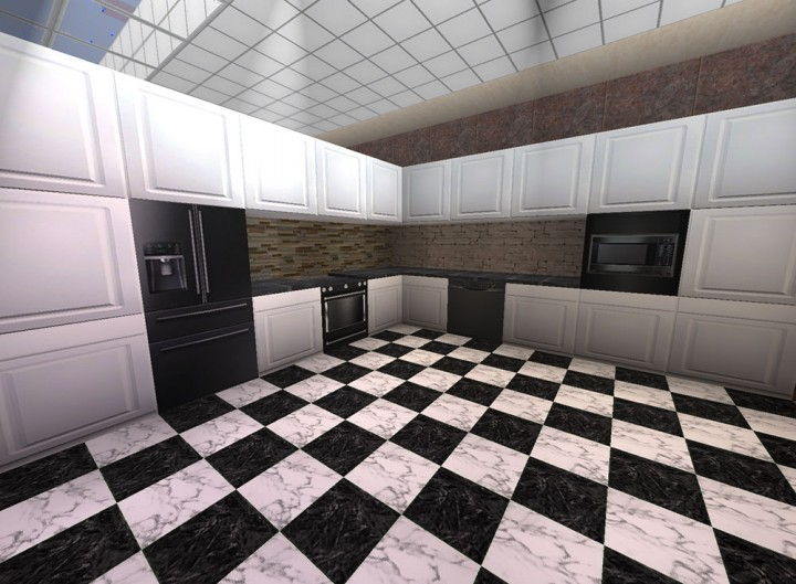 Black Appliances with White Cabinets