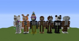 FNAF Statues Minecraft Map & Project