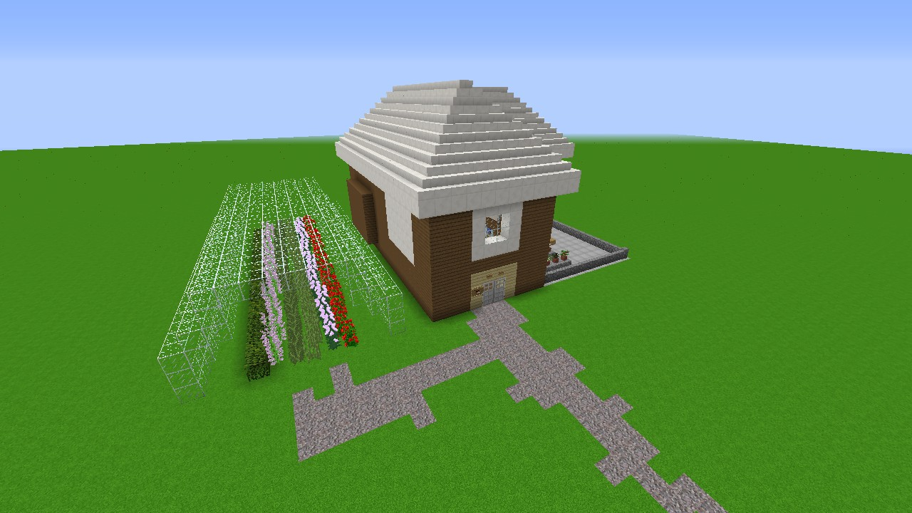 Modern farm house and garden download 1 8 minecraft for Minecraft modern house download 1 8