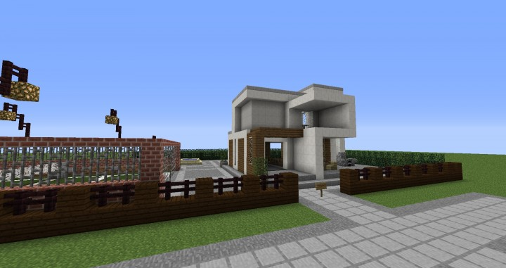 Modern house mcedit schematics minecraft project for Modern house schematic