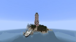Futuristic Redstone Lighthouse Minecraft Map & Project
