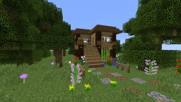 Log Cabin - Time lapse Minecraft Map & Project