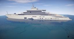 ECLIPSE Mega Yacht Minecraft Map & Project